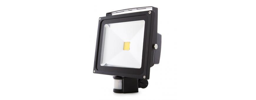 Focos Proyectores LED con Detector de Movimiento